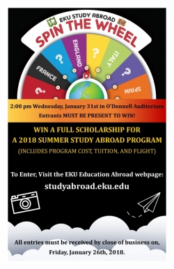 Spin the Wheel Summer Study Abroad Scholarship Event