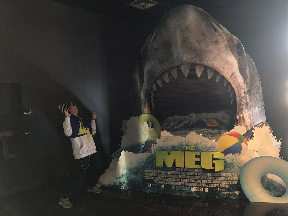 Lisa's visit to the Cinemas. A promotional Pop Up for Meg